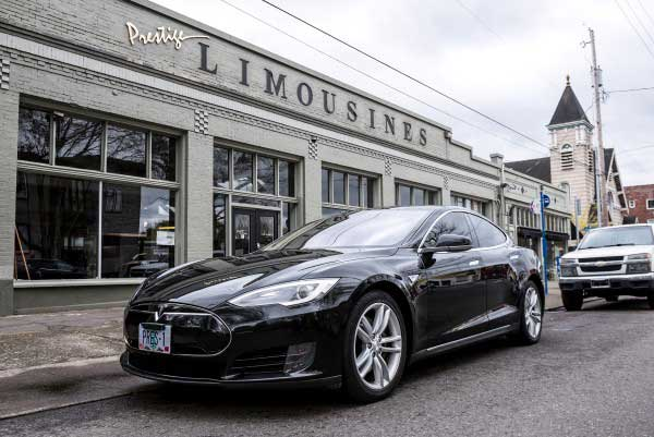 Tesla Model S Electric Luxury Sedan Prestige Limousines