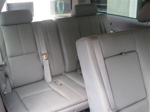 Luxury SUV interior
