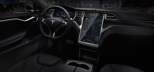 Tesla Model S Electric Luxury Sedan interior